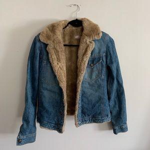 Paul Smith Denim Jacket Faux Fur Lining Size 40